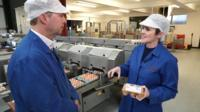 Emma Simpson and egg producer Toby Rush