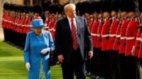The Queen and US President Donald Trump in July 2018