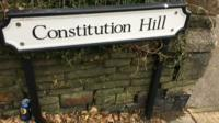 Constitution Hill sign