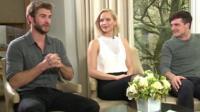 Liam Hemsworth , Jennifer Lawrence and Josh Hutcherson