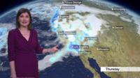 Helen Willetts shows the snow forecast for America