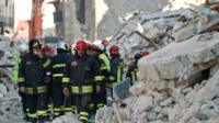 Rescuers in Italy