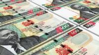 Kenyan shilling bills