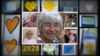 Yellow hearts collage