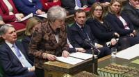 Theresa May and Tory front bench