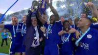Leicester City lift trophy