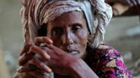Rohingya woman looking at camera