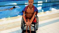 Russian Paralympic swimmer Alexander Makarov