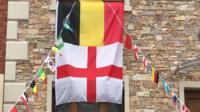 ENGLISH AND GERMAN FLAG
