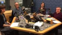 Nicola Werenowska, Stephen Unwin and presenters Kate Monoghan and Simon Minty