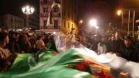 Algerians celebrating in the capital