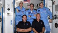 Doug Hurley and Bob Behnken have floated into the International Space Station.