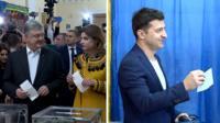 Порошенко и Зеленский проголосовали в Киеве.