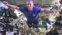 Still from ISS crew's Mannequin Challenge