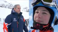 Welsh para skiers Chris Lloyd and Menna Fitzpatrick