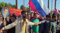 Syrians celebrating Russian intervention