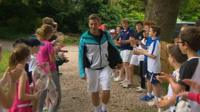 Marcus Willis arrives at Warwick Boat Club