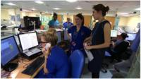 Staff at the QMC