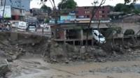 The landslides struck in the middle of the night.