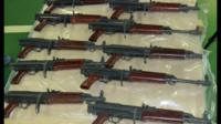 Some of the smuggled guns