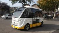Trapizio driverless bus in Schaffhausen district