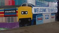Mural at Batley railway station