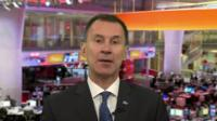 Jeremy Hunt on BBC Breakfast