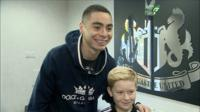 Lucas Rochford got to meet Miguel Almiron after his encouraging message went viral on social media.