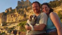 Julie and Jason Buckley with their dog