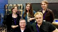 Simon Minty, Kate Monaghan, Mik Scarlet, Juliette Burton and Tom Skelton who's in next next week's programme from Ouch