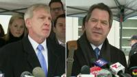 US Attorney for the Eastern District of New York, Richard Donoghue, and Jeff Lichtman, El Chapo's lawyer