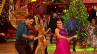Dancers on Strictly Christmas set