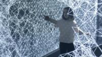 A digital art project in Washington, DC invites people to play with light.