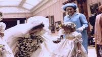 The Queen pictured with Princess Diana on her wedding day in 1981