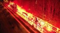 """Фанаты """"Зенита"""" устроили огненную встречу своей команде"""