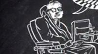 Illustration showing Prof Stephen Hawking