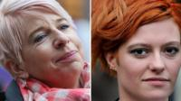 Katie Hopkins, left, and Jack Monroe