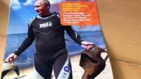 Vladimir Putin in a wetsuit