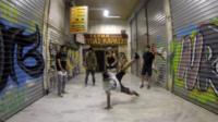 Break dancing man