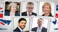 Here are the candidates running for Conservative leadership, and Number 10.
