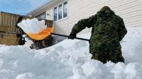 Canadian snow drift