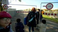 Migrants at Germany Austria border