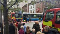 Person trapped under a bus in Custom House Square Belfast