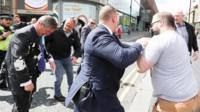 Nigel Farage hit with milkshake
