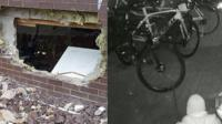 Burglars spend nearly three hours breaking into a cycle shop and removing stock worth £70,000.
