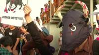 Anti-bullfighting protest in Peru