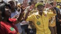 Protesters in Pretoria