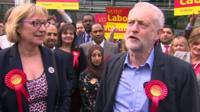 Jeremy Corbyn celebrates by-election victory