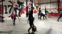 Participants of the Grounded Aerial class