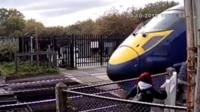Near miss on railway line